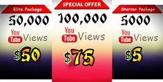 Youtubebulkviews.com is the #1 Provider of Real, Fast and Cheap YouTube views, Facebook Likes, Twitter & Instagram Followers and many more social media services.