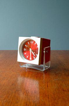 Mod Orange W. German Bradley Alarm Clock
