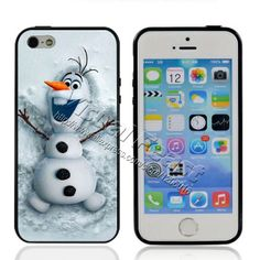 2014 Popular Movies Frozen Princess Cute Olaf Case for iPhone 5 5s Soft TPU Edges + Hard PC Back Cover For iPhone 4 4s A0116