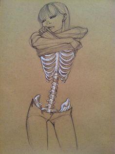 Skin and bones sketch