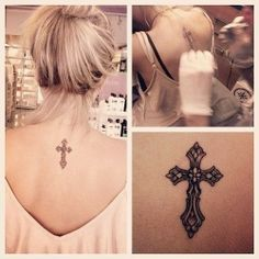 If I ever got a tattoo, it would probably be related to God.  This cross is so pretty!