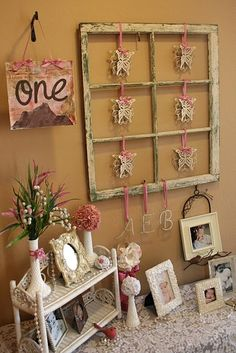 So cute if in purple and I had baby photos of me!!!  Vintage Butterfly Baby Shower ideas - super adorable!
