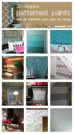 Spruce up a room with a patterned wall!