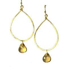 single teardrop with gem earrings