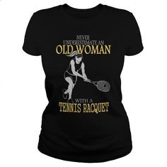 Limited - Tennis Old Woman - #t shirt #black shirts. I WANT THIS =>…