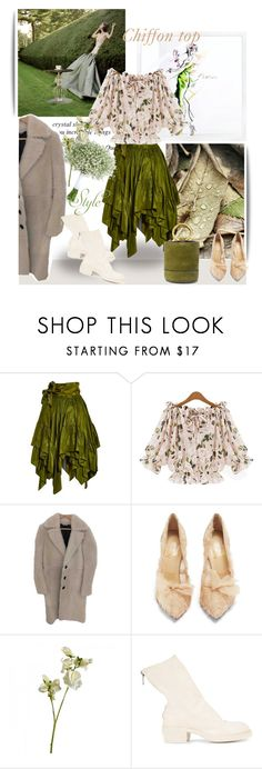 """November 3,2017"" by anny951 ❤ liked on Polyvore featuring Marchesa, Yves Saint Laurent, Burberry, Christian Louboutin, Guidi and Simon Miller"