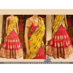 Bollywood Replica - Bridal Pink & Yellow Lehenga Choli - NX-24