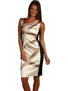 Jax Satin Bandaged Sleveless Dress at Zappos Dresses For Work, Formal Dresses, Wedding Dresses, Mom Dress, Ruffle Top, Sheath Dress, Beautiful Dresses, Satin, My Style