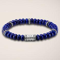 John Hardy Bedeg Lapis Lazuli Silver Beads Bracelet | JR Dunn Jewelers