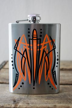 Black & Orange Pinstriping