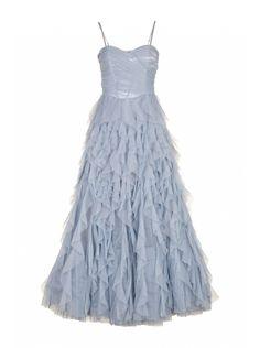 Robe enchanteresse BLEU CIEL - Robes Femme - NAF NAF la robe de princesse par excellence