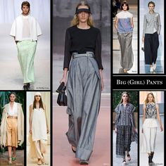 Big (Girl) Pants. Billowy culottes, Bermuda shorts, and wide-leg trousers — the length won't matter, it's all about the way the fabric flows around the legs.