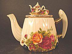 Royal Albert Cardew Victorian Tea Table 1 Cup Teapot (Royal Doulton Royal Albert) at A Vintage Collectibles Showcase