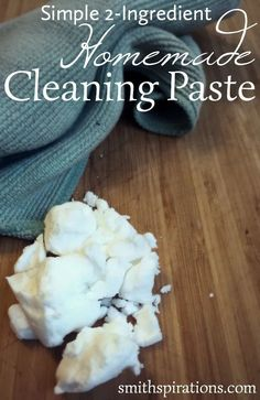 Homemade Cleaning Paste! Norwex Cleaning, Diy Home Cleaning, Cleaning Hacks, Cleaning Solutions, Natural Cleaning Recipes, Organic Cleaning Products, Household Products, Homemade Products, Natural Products