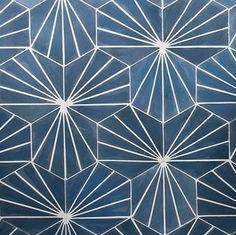 Electra- Ultra Marine Bone, Cement Hexagon Tile Back of Bar? Downstairs Toilet, Basement Bathroom, Bathroom Interior, Hexagone Tile, Kitchen Flooring, Kitchen Tiles, Cement Tiles Bathroom, Geometric Tiles, House Tiles