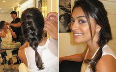 penteados com tranças simples
