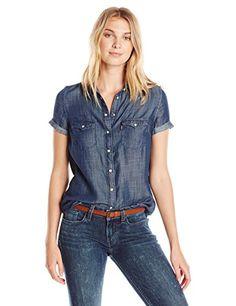Levi's Women's Short Sleeve Western Shirt, Ocean Blue (10... https://www.amazon.com/dp/B01FWOWE70/ref=cm_sw_r_pi_dp_x_dNRvzbM9ZG9CT