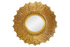 1920s Carved Gilt Sunburst Mirror on OneKingsLane.com