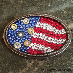 """American Pride"" Oval Buckle with Red, White & Blue Swarovski Crystals – Prettyhunter.com"