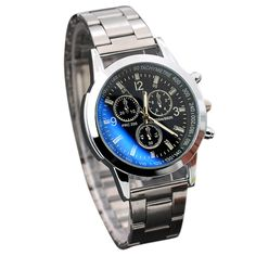 High Quality NEW Wristwatch Mens Stainless Steel Sport Quartz Hour Wrist Analog Watch Top Dropshipping M3 #Affiliate