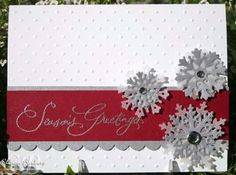 Could be a winter card or a spring card with flowers, or a summer card with flip flops....