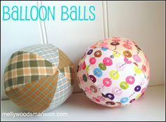 Balloon Balls - fabric stash buster that the kids will adore