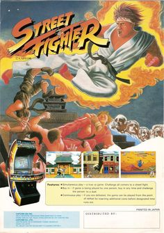 Street Fighter, flyer arcade 1987.