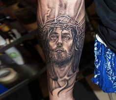 Realistic Religious Tattoo by Jurgis Mikalauskas Tattoo | Tattoo No. 13349