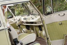 1964 Volkswagen Camper 21 Window Samba Front Interior