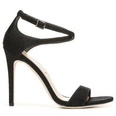 VIA SPIGA Women's Tiara Dress Sandal Black Dotted Suede