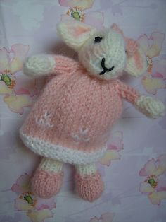 knitted baby bunny, free pattern