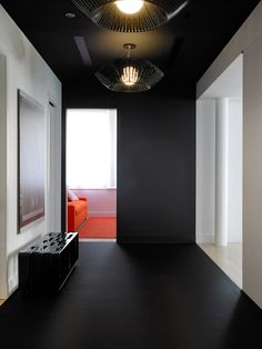 Ghislaine Vinas West Broadway Loft  Black paint  I like how this space connects with the wall, ceiling, and floor.