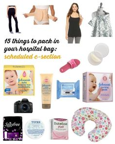 Great list of what to pack in your hospital bag for a scheduled c-section.