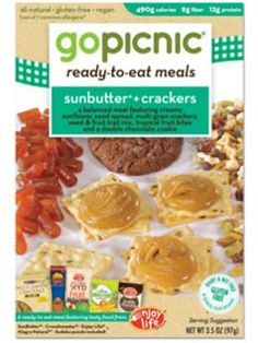 A post from The Nut-Free Mom blog about nut-free kid-friendly lunch foods spotted on the grocery shelves.