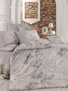 Спален комплект 100% памук Ранфорс- Елена в сиво на топ цена - SMARTLIVING.bg