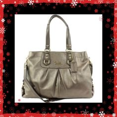 ✨Coach Ashley in Dark Gold Bronze SALE  SALE Beautiful Coach Ashley purse gold-bronze color, hardware perfect, very nice and great for a Coach lover.  The color goes with everything for spring and summer. One of the larger bags at being 16 inches long.  Has handles and a shoulder strap. Very affordable price for an excellent new condition purse Coach Bags