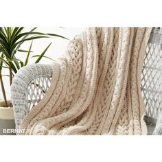 Free Intermediate Throw Knit Pattern | Bernat | Yarnspirations | Bernat Maker | Free Pattern