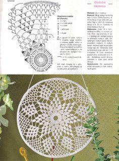 Kira scheme crochet: Scheme crochet no. Motif Mandala Crochet, Crochet Circles, Crochet Round, Crochet Doilies, Crochet Flowers, Doily Patterns, Afghan Crochet Patterns, Crochet Stitches, Crochet Wall Hangings