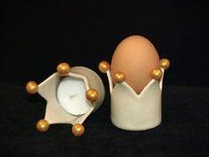 """Keramik Krone """"Windlicht"""