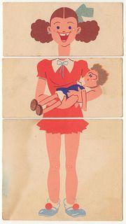 Petit jeu de méli-mélo circa 1930's-40's. via Agence Eureka.