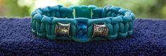 Turquoise Blue Beaded Paracord Bracelet  Size 7.5 by RainyDayzArt, $12.50 https://www.etsy.com/listing/190913754/turquoise-blue-beaded-paracord-bracelet?ref=listing-shop-header-4