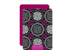 Inspired Delight: Canterberry Magenta - Flat Holiday Photo Cards in Storm | Vera Bradley