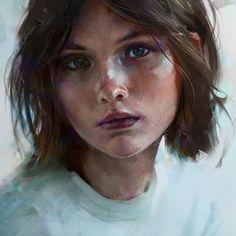 Portrait Colour Study by Aaron Griffin on ArtStation.