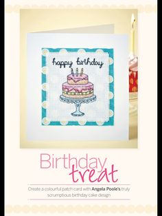 Birthday Treat Cross Stitch Collection  Issue 237 July 2014 Zinio Saved