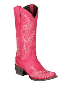 Another great find on #zulily! Fuchsia Ashlee Lace Cowboy Boot #zulilyfinds