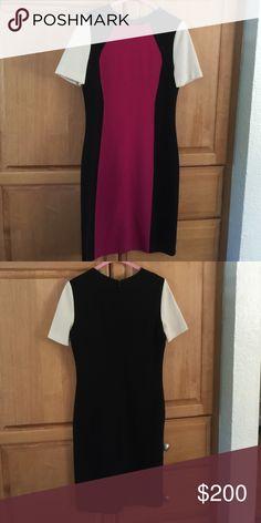 St. John Milano Color Block Dress Beautiful and classy St John dress. New without tags St. John Dresses