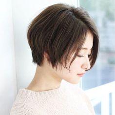 【Un ami 表参道】大人かわいい、前髪なしでオシャレに…、すっきりショートボブ☆