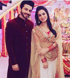 My favorite couple ❤️ Couple Wedding Dress, Wedding Dresses Men Indian, Pakistani Dresses, Indian Dresses, Indian Outfits, Cute Couple Poses, Cute Couples, Indian Celebrities, Bollywood Celebrities