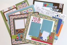 Artsy Albums Mini Album and Page Layout Kits and Custom Designed Scrapbooks by Traci Penrod: Puppy Love Scrapbook Page Layout Kit with Doodlebug Designs