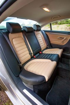 Rear accommodations in the 2012 VW CC.  Daring without being garish.  Nice, nice...